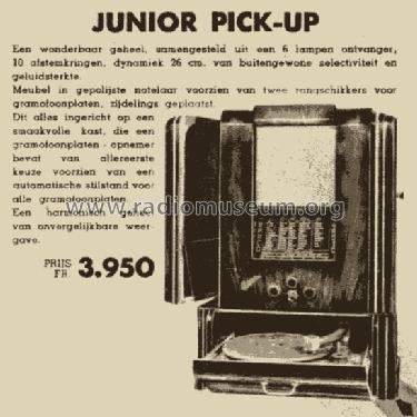 Junior Pick-Up ; Barco, Belgian (ID = 1126310) Radio