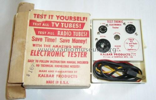 Test-Tronic Electronic Tester ; Barfield Mfg. Co.; (ID = 1324734) Equipment