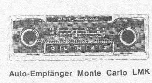 Monte Carlo Lmk Ab Nr D806000 Car Radio Becker Max Egonrhradiomuseumorg: 1970 Monte Carlo Radio At Gmaili.net