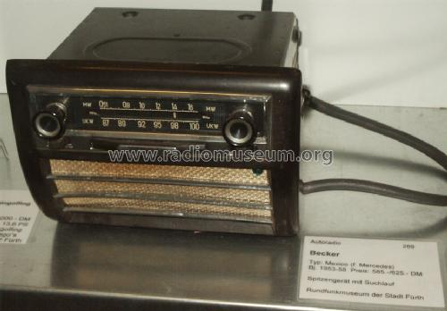 Mexico ; Becker, Max Egon, (ID = 1032180) Car Radio