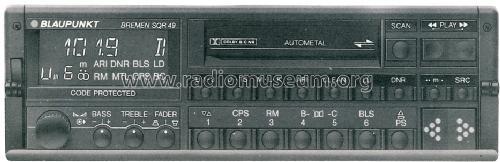 bremen sqr49 7 649 898 013 car radio blaupunkt ideal rh radiomuseum org