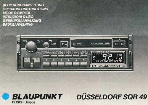 d sseldorf sqr 49 7 648 490 010 car radio blaupunkt ideal rh radiomuseum org