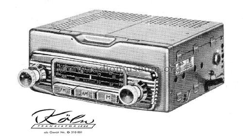 Köln Transistor US 3898 ab G 310001; Blaupunkt Ideal (ID = 876797) Car Radio