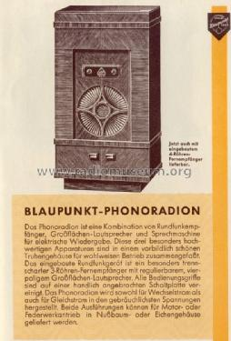 Phonoradion W; Blaupunkt Ideal, (ID = 1268811) Radio