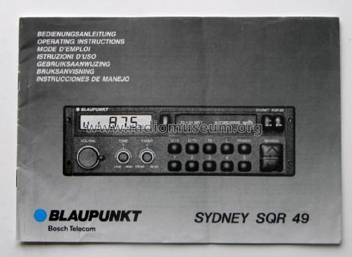 sydney sqr 49 car radio blaupunkt ideal berlin sp ter hild rh radiomuseum org