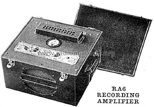 recording amplifier ra 6 ampl/mixer bogen, david co., bogen rm 150a wiring diagram #13