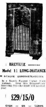 Long Distance 14; Breville; Sydney (ID = 2031771) Radio