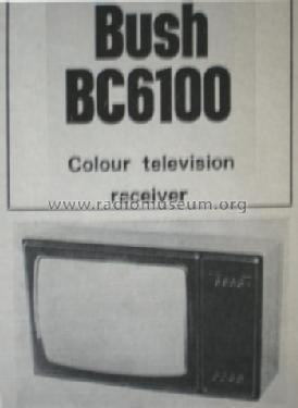 BC6100; Bush Radio; London (ID = 861717) Télévision