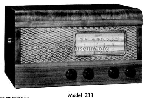 Battery Model 233; Canadian Marconi Co. (ID = 1188443) Radio