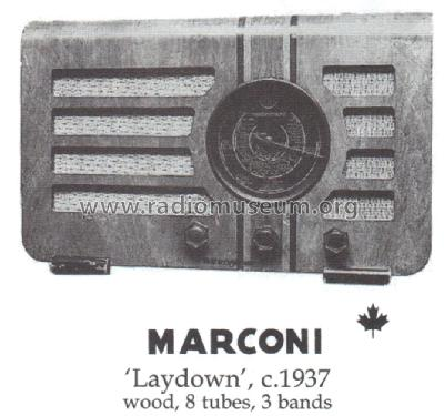 Laydown ; Canadian Marconi Co. (ID = 1445330) Radio