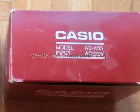 AC Adaptor AD-K65; CASIO Computer Co., (ID = 1819209) Power-S