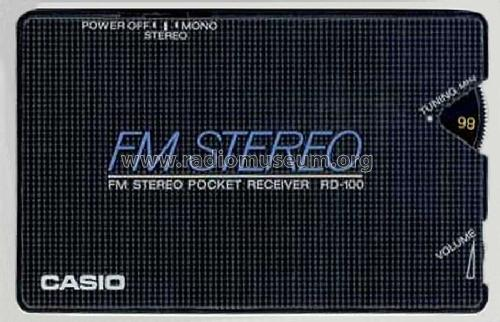 FM Stereo Card Radio RD-100; CASIO Computer Co., (ID = 798108) Radio