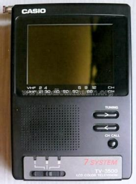 LCD Portable Television TV-3500S; CASIO Computer Co., (ID = 1723781) Television