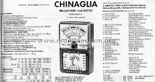 Universal-Multimeter AN-660 SJ; Chinaglia Dino (ID = 292388) Equipment