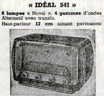 Id al 541 radio cibot radio paris build 1954 1 pictures for Ideal paris