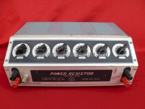 power resistor decade box 240 c equipment clarostat mfg co. Black Bedroom Furniture Sets. Home Design Ideas
