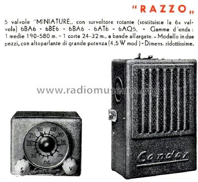 Razzo ; Condor Ing. Gallo; (ID = 738803) Car Radio