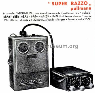 Super Razzo ; Condor Ing. Gallo; (ID = 740344) Car Radio