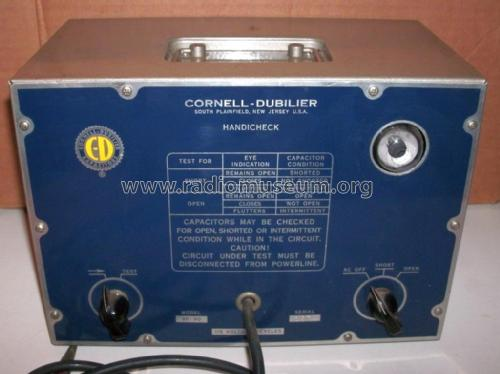 BF-90 Capacitor Checker; Cornell-Dubilier (ID = 2281027) Equipment