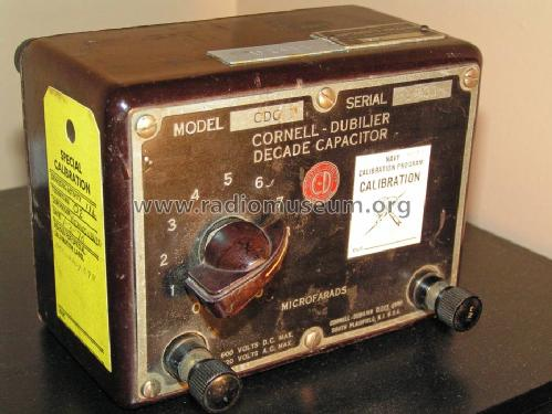 CDC-3 Capacitor Decade; Cornell-Dubilier (ID = 1290537) Equipment