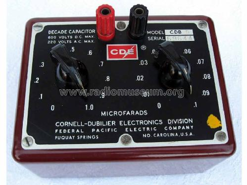 Decade Capacitor CDB-5; Cornell-Dubilier (ID = 446832) Equipment