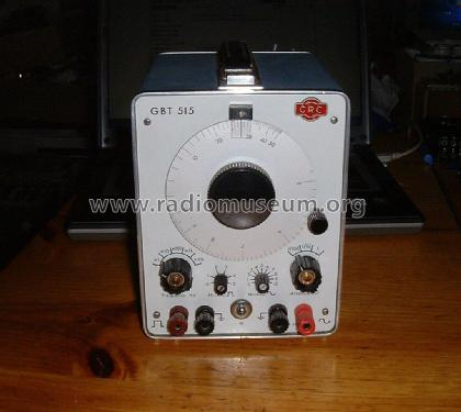 Audio Generator GBT515 Equipment CRC, Constructions Radioéle