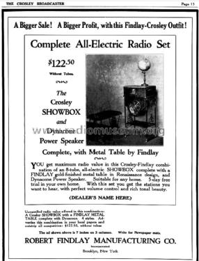 Showbox, Dynacone, Findlay table 706; Crosley Radio Corp.; (ID = 852519) Radio