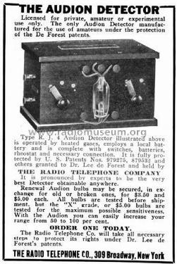 R J 4 mod-pre26 DeForest Radio Telephone & Telegraph Co  De