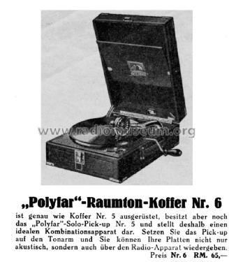 polyfar raumton koffer nr 6 talkingm deutsche grammophon. Black Bedroom Furniture Sets. Home Design Ideas