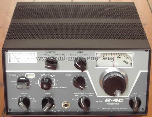 r 4c amateur r drake r l miamisburg ohio build 1973 ndas rh radiomuseum org Drake Line 4C Drake Ham Radio Image