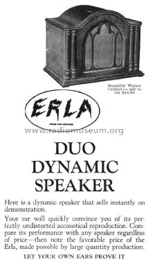Walnut Cabinet for Duo Dynamic Speaker ; Electrical Research (ID = 1356209) Cabinet