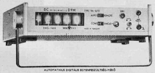 DC Voltmeter 1465/TR-1672; EMG, Orion-EMG, (ID = 589754) Equipment