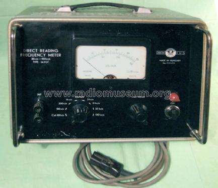 Direct Reading Frequency Meter 1631C; EMG, Orion-EMG, (ID = 1698843) Equipment