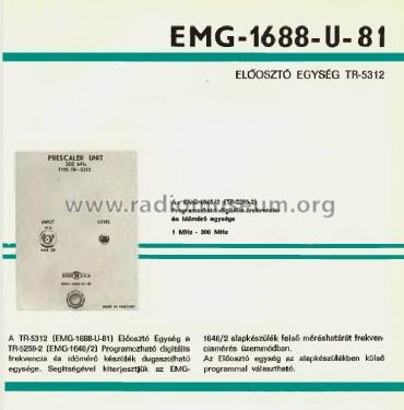Prescaler Unit 1688-U-81 / TR-5312; EMG, Orion-EMG, (ID = 908417) Equipment