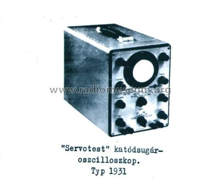 Servotest 1931; EMG, Orion-EMG, (ID = 2088432) Equipment