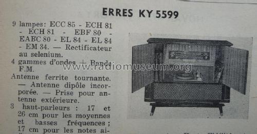 KY 5599; Erres, Van der Heem (ID = 1450374) Radio