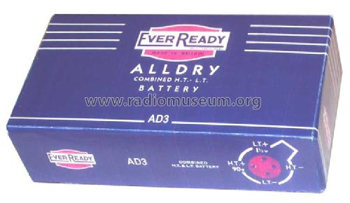 All Dry Battery AD3; Ever Ready Co. GB (ID = 363582) Fuente-Al