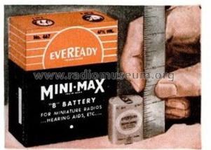 Mini-Max B battery 467; Eveready Ever Ready, (ID = 1357871) Power-S