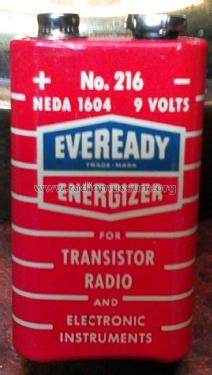Energizer 9 Volts Battery 216 NEDA 1604; Eveready Ever Ready, (ID = 1595778) A-courant