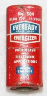 Energizer - For Photoflash and Electronic Applications 15 Volts 504 - NEDA 220; Eveready Ever Ready, (ID = 1727553) Fuente-Al