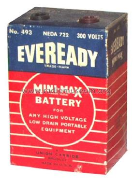 Mini-Max Battery 493 Neda 722; Eveready Ever Ready, (ID = 363618) Power-S