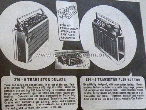 Super Nine Portable Caradio M274 12 volt Radio Ferris Bros