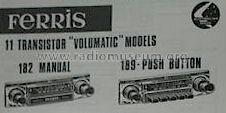 11 Transistor Volumatic M189 ; Ferris Bros. Pty Ltd (ID = 1047205) Car Radio