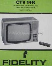 Portable Colour Television CTV14R; Fidelity Radio Ltd.; (ID = 693056) Television