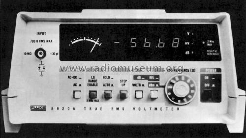 True Rms Voltmeter True Rms Voltmeter 8920a