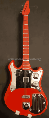 Electric Guitar with Stand - Transistor Radio LF-390; Franklin Creative (ID = 2603287) Radio