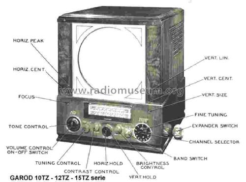 AM FM Television Receiver 12TZ Series 12TZ5; Garod Radio Corp.; (ID = 1438217) TV Radio