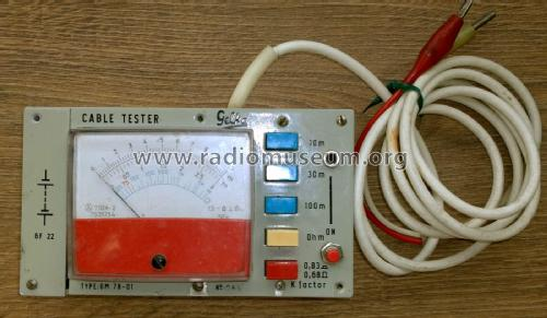 Cable Tester GM 78-01; Gelka, Technológiai (ID = 1859794) Equipment