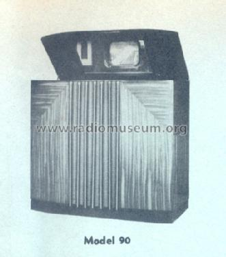 Musaphonic Instrument 90 ; General Electric Co. (ID = 170759) TV Radio