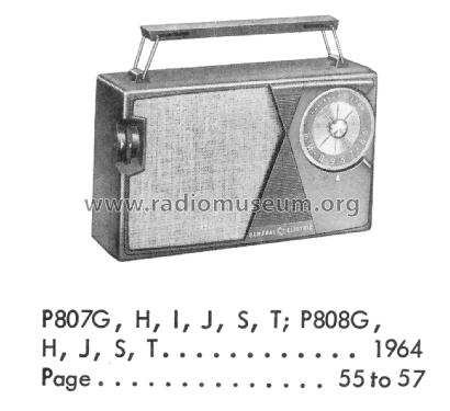 P807G ; General Electric Co. (ID = 2214777) Radio